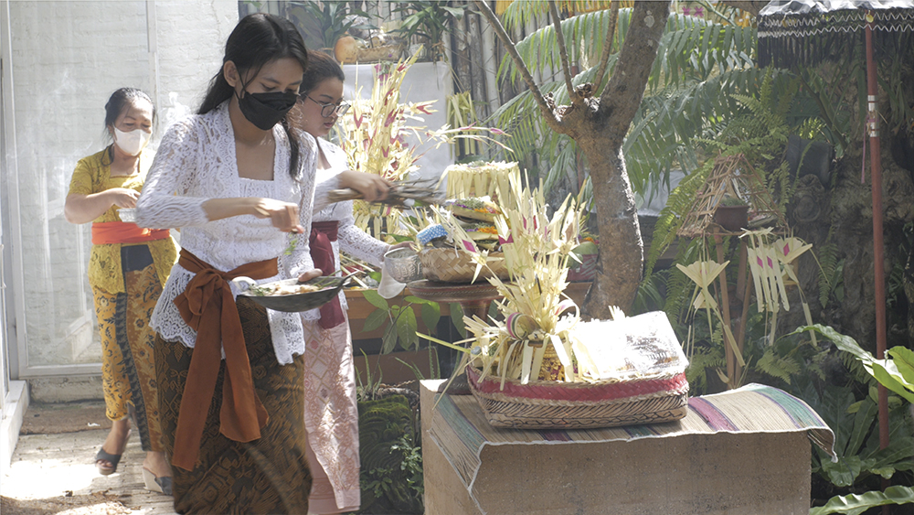 Piodalan Ceremony at Workspace and Culture